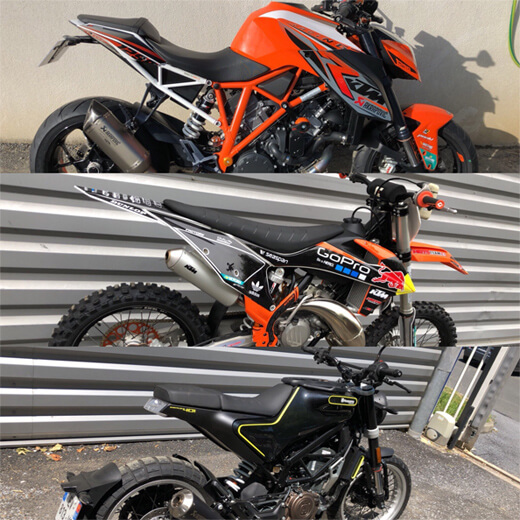 Trois motos d'occasion disponibles à la vente chez Moto Center 81